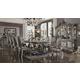 Acme Furniture Versailles 7pc Rectangular Dining Set in Antique Platinum