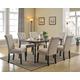 Acme Furniture Vriel 7pc Rectangular Dining Set in Dark Oak and Black
