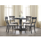 Acme Furniture Wallace 5pc Round Pedestal Dining Set in Weathered Gray