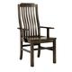 Vaughan-Bassett Simply Dining V/Slat Arm Chair (Set of 2) in Dark Maple 220-011