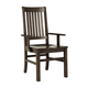 Vaughan-Bassett Simply Dining RT/Slat Arm Chair (Set of 2) in Dark Maple 220-041