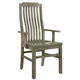 Vaughan-Bassett Simply Dining V/Slat Arm Chair (Set of 2) in Grey 221-011