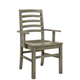 Vaughan-Bassett Simply Dining H/Slat Arm Chair (Set of 2) in Grey 221-021