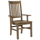 Vaughan-Bassett Simply Dining RT/Slat Arm Chair (Set of 2) in Natural Maple 224-041