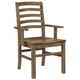 Vaughan-Bassett Simply Dining H/Slat Arm Chair (Set of 2) in Natural Maple 224-021