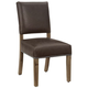 Vaughan-Bassett Simply Dining Leather Upholstered Side Chair (Set of 2) in Natural Maple 224-032