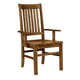 Vaughan-Bassett Simply Dining RT/Slat Arm Chair (Set of 2) in Antique Amish 230-041