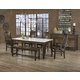 Vaughan-Bassett Simply Dining 5-Piece Kitchen Table Set w/ Quartz Top in Dark Maple