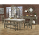 Vaughan-Bassett Simply Dining 5-Piece Kitchen Table Set w/ Quartz Top in Grey