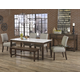 Vaughan-Bassett Simply Dining 5-Piece Quartz Top Kitchen Table Set w/ Upholstered Chairs in Dark Maple