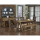 Vaughan-Bassett Simply Dining 5-Piece Live Edge Top Trestle Dining Room Set w/ Upholstered Chairs  in Natural Maple