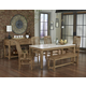 Vaughan-Bassett Simply Dining 5-Piece Kitchen Table Set w/ Quartz Top in Natural Maple