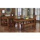 Vaughan-Bassett Simply Dining 5-Piece Kitchen Table Set w/ Wooden Top in Antique Amish