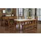 Vaughan-Bassett Simply Dining 5-Piece Kitchen Table Set w/ Quartz Top in Antique Amish