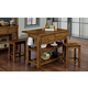 Vaughan-Bassett Simply Dining 3-Piece Island Table Set in Antique Amish