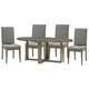 Legends Furniture Tango 6pc Oval Dining Set in Sandblasted Walnut