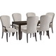 Barclay Butera Brentwood 7pc Oakmont Rectangular Dining Set in Wilshire