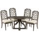 A.R.T Furniture Vintage Salvage 5pc Aiden Round Dining Set in Walnut