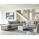 Coaster Scott Living Charlotte Claude II 6pc Sectional Living Room Set in Grey