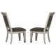 Homelegance Bevelle Side Chair in Silver (Set of 2) 1958S