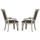 Homelegance Bevelle Arm Chair in Silver (Set of 2) 1958A