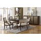 Fine Furniture Textures 6pc Ives Dining Room Set in Sable