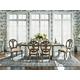 Fine Furniture Veranda 7pc Kensington Dining Room Set in Sepia