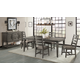 Intercon Furniture Foundry 5-Piece Dining Table Set in Pewter