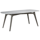 Palliser Furniture Mix and Match Dining Benedict Dining Table with Grey Marble Top 119-1513K