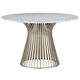 Palliser Furniture Mix and Match Dining Naomi Round Dining Table with Marble Top in Gold 119-1576K