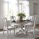 Liberty Furniture Magnolia Manor 5pc Round/Oval Pedestal Dining Set in Antique White EST SHIP TIME IS 4 WEEKS
