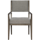 Bernhardt Linea Arm Chair in Cerused Charcoal (Set of 2)