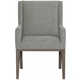 Bernhardt Linea Upholstered Arm Chair in Cerused Charcoal (Set of 2)