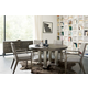 Bernhardt Linea 5pc Round Dining Set in Cerused Charcoal
