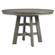 Palliser Furniture Venice Cafe Height Round Dining Table in Grey 120-162K