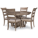 Legacy Classic Breckenridge 5pc Round Pedestal Dining Set in Barley Brown