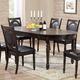Crown Mark Lyla Dining Table in Dark Brown