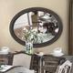 Furniture of America Arcadia Oval Mirror in Rustic Natural Tone CM3150MO
