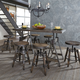 Liberty Furniture Pineville 7-Piece Gathering Table Set in Charcoal EST SHIP TIME IS 4 WEEKS