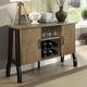 Furniture of America Kirstin Server in Rustic Oak CM3573SV