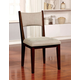 Furniture of America Kaidence Side Chair in Brown Cherry (Set of 2) CM3273SC-2PK
