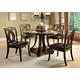 Furniture of America Keukenhof Round Dining Table in Dark Walnut CM3160RT