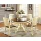 Furniture of America Harrisburg Dining Table in Vintage White CM3216OT