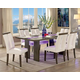 Furniture of America Luminar I Dining Table in Gray CM3559GY-T