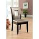Furniture of America Evant I Side Chair (Set of 2) in Black CM3320SC-2PK