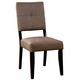 Furniture of America Bay Side I Side Chair in Dark Walnut (Set of 2) CM3311SC-2PK