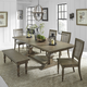 Liberty Furniture Harvest Home 6-Piece Trestle Dining Table Set in Barley Brown EST SHIP TIME IS 4 WEEKS