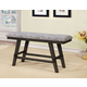 Furniture of America Tollerson Counter Ht. Bench in Gray CM3277PBN