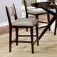 Furniture of America Kaidence Counter Ht. Chair in Brown Cherry (Set of 2) CM3273PC-2PK