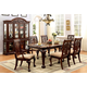 Furniture of America Petersburg I 7pc Rectangular Dining Set in Cherry